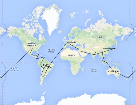 Itinéraire du voyage