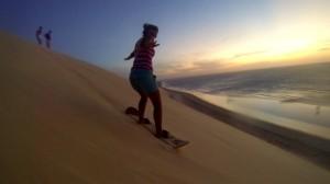Nolwenn en Sandboard