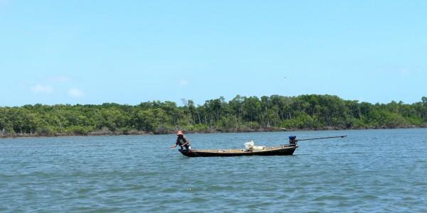 Les pêcheurs sur le Delta de Parnaiba