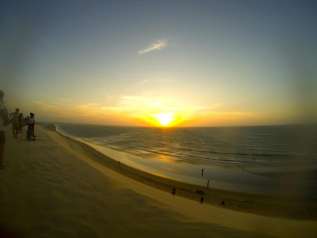 Coucher de soleil sur la dune de Jeri