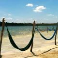 Les hamacs sur l'eau du Lagoa Paraiso