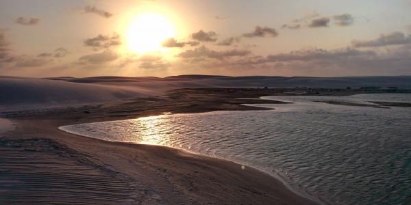 Coucher de soleil sur le Lagoa Bonita – Lençòis