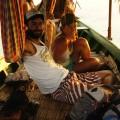 Coucher de soleil sur la barque