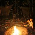 Campement au soir