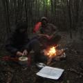 Un petit feu le dernier soir : grand réconfort !
