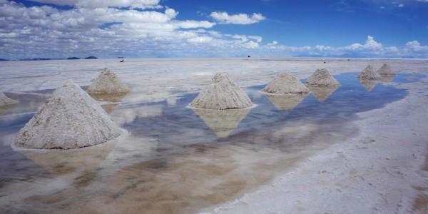 Cônes de sel pour la consommation