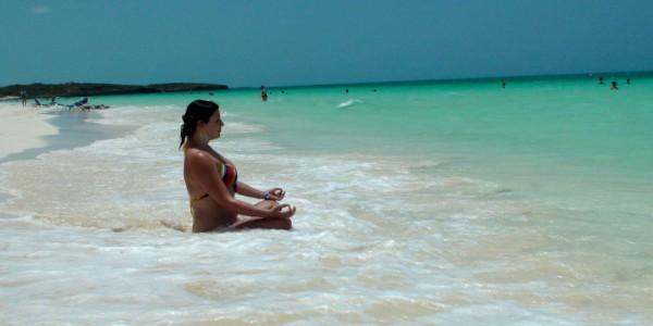 Anais à Playa Pilar