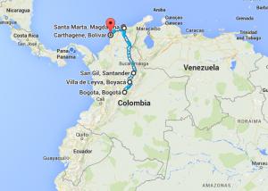 0. Trajet Colombie