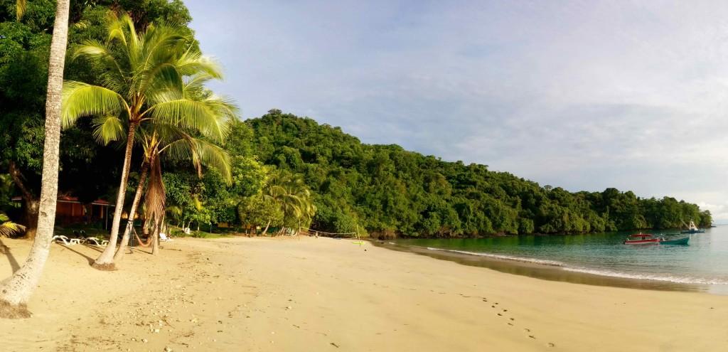 Campement à Isla Coiba... Il y a pire !