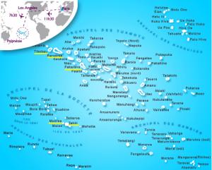 5. Carte de la Polynésie