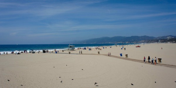 Pas mal la plage de Santa Monica !