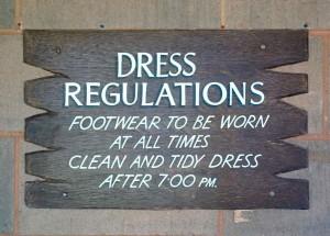 Les règles, même dans le désert...