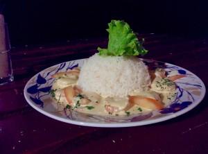 Repas - dîner de crevettes