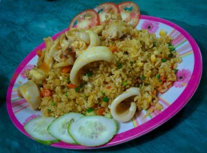 1. Fried rice squid