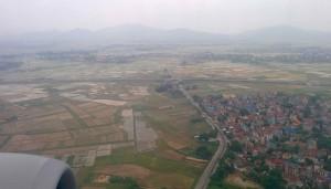 La région d'Hanoi vue du ciel