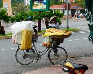 Vendeur ambulant de pain