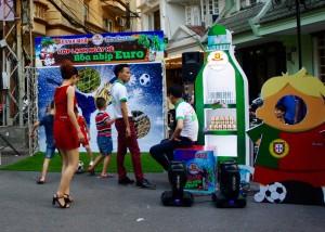Animation autour de l'Euro à Hanoi