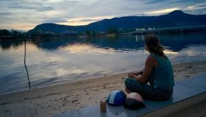 Bière au coucher du soleil
