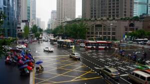 Chengdu sous la pluie