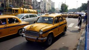 Les taxis jaunes de Kolkata