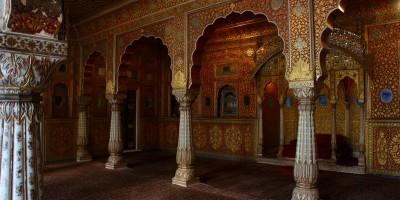 Ca brille dans le fort de Bikaner!