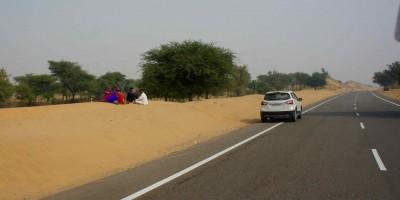 Pause sur la route