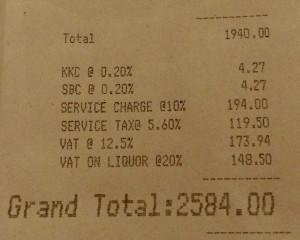 Les taxes en Inde, un exemple...