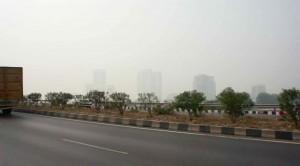 Beau soleil à Delhi