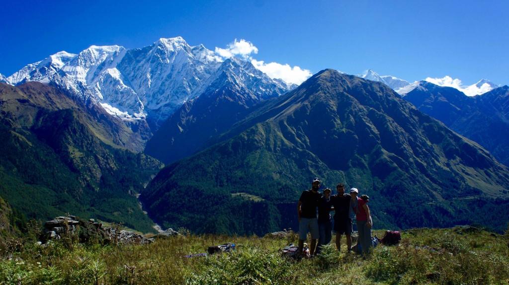 Derrière nous, l'Annapurna South, I