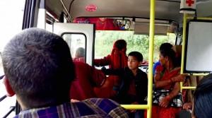 Bus vers Pokhara
