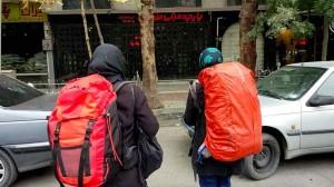 Le backpack sous la neige