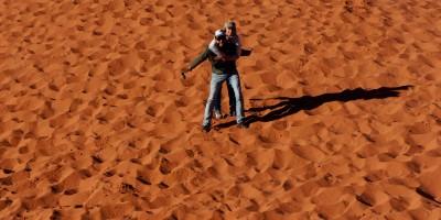 Dune de sable rouge