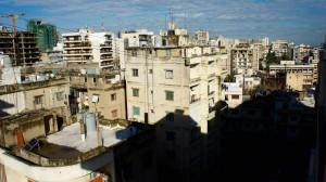 Vue du balcon sur Achrafieh