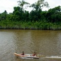 Habitants sur l'Amazone