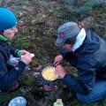 Premier repas gelées : polenta, fromage et salami !