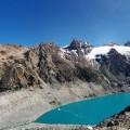 A l'ouest, vue sur un autre lac, le Lago Sucia