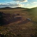 Notre campement, avec des abris pour les tentes