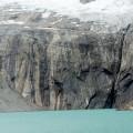 Le glacier coule dans le lagon
