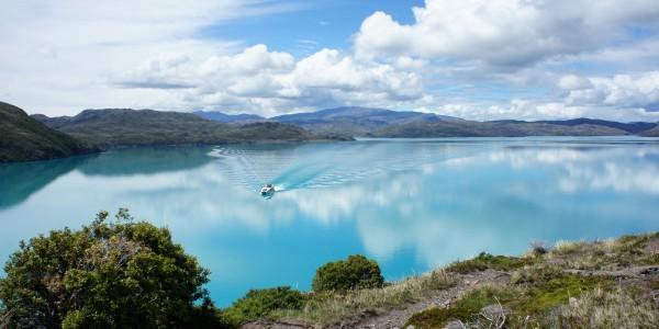 La couleur de ce lago était juste incroyable
