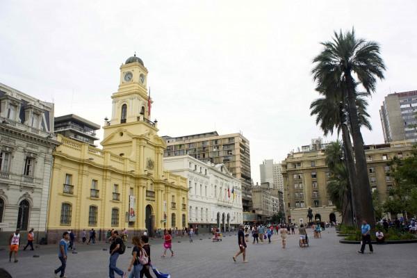 Plaza de Armas, où fut édifiée la ville