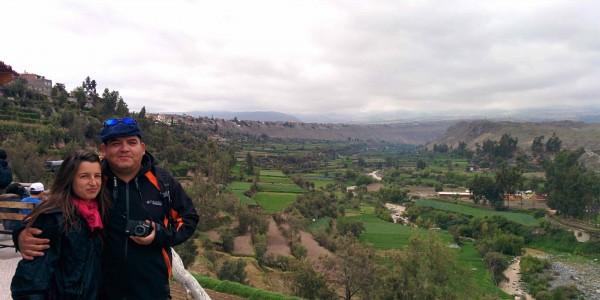 Vue sur les campagnes d'Arequipa