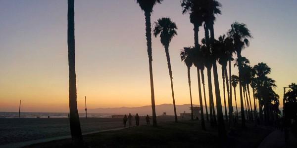 Coucher du soleil à Venice Beach